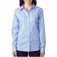 Ultra Club | UltraClub LADIES' Medium-Check Woven