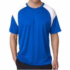 Ultra Club Cool-N-Dry Sport Color Block Tee