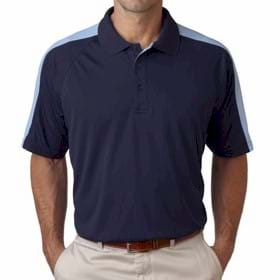 Ultra Club Cool-N-Dry Sport Shoulder Block Polo