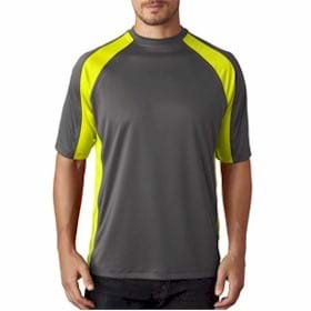 UltraClub Sport 2-Tone Performance Interlock Tee