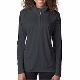 UltraClub LADIES' 1/4-Zip Performance