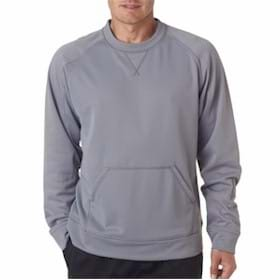 UltraClub Cool & Dry Sport Crew Neck Fleece