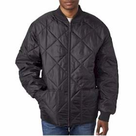UltraClub Puffy Workwear Jacket w/ Quilted Lining