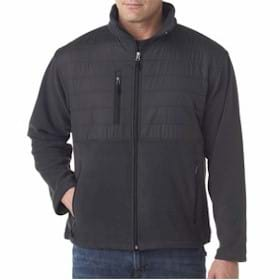 UltraClub Fleece Jacket w/ Quilted Overlay