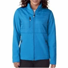 UltraClub LADIES' Jacket w/ Quilted Yoke Overlay