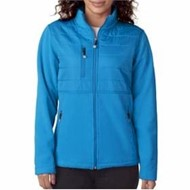 Ultra Club | UltraClub LADIES' Jacket w/ Quilted Yoke Overlay