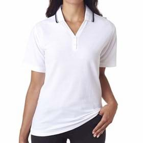 UC Ladies' S/S Whisper Pique Polo w/ Rib Collar