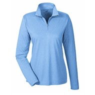 Ultra Club | UltraClub Ladies' Cool & Dry Heathered Quarter-Zip