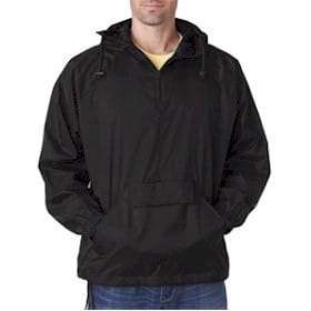 UltraClub 1/4-Zip Hooded Pullover Pack-Away Jacket
