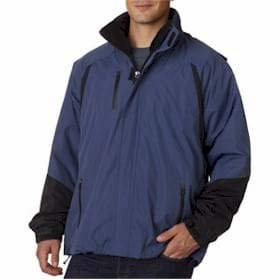 UltraClub Color Block 3-in-1 Systems Hooded Jacket