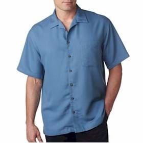 UltraClub Men's Cabana Breeze Camp Shirt