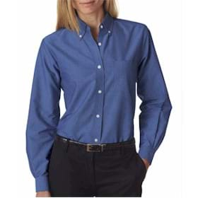 UltraClub LADIES' L/S Wrinkle Free Oxford