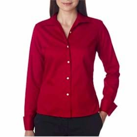 UltraClub Ladies' Whisper Elite Twill Shirt