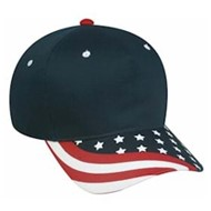 Outdoor Cap | Outdoor Cap American Flag Visor Cap