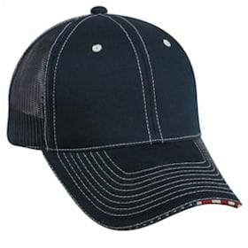 Outdoor Cap Mesh Back Cap with Flag Sandwich Visor