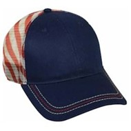 Outdoor Cap | USA Flag Mesh Back Panel Cap
