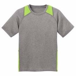 Sport-tek | Sport-Tek YOUTH Heather Colorblock Contender Tee