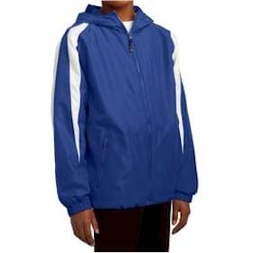 SportTtek YOUTH ColorBlock Hooded Jacket